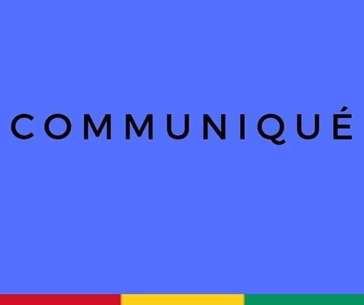 COMMUNIQUE DU MINISTERE DES TRAVAUX PUBLICS