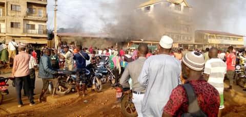 Conakry : un grave incendie signalé à Sonfonia